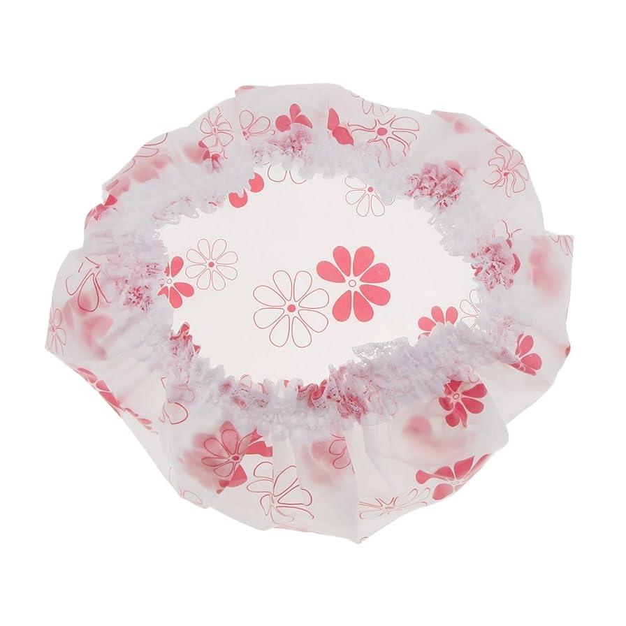 ご意見小包キャンセル防水キャップ ヘアキャップ シャワーキャップ 弾性キャップ シャワー バス お風呂 サロン 入浴ハット 帽子 全3色 - ピンク