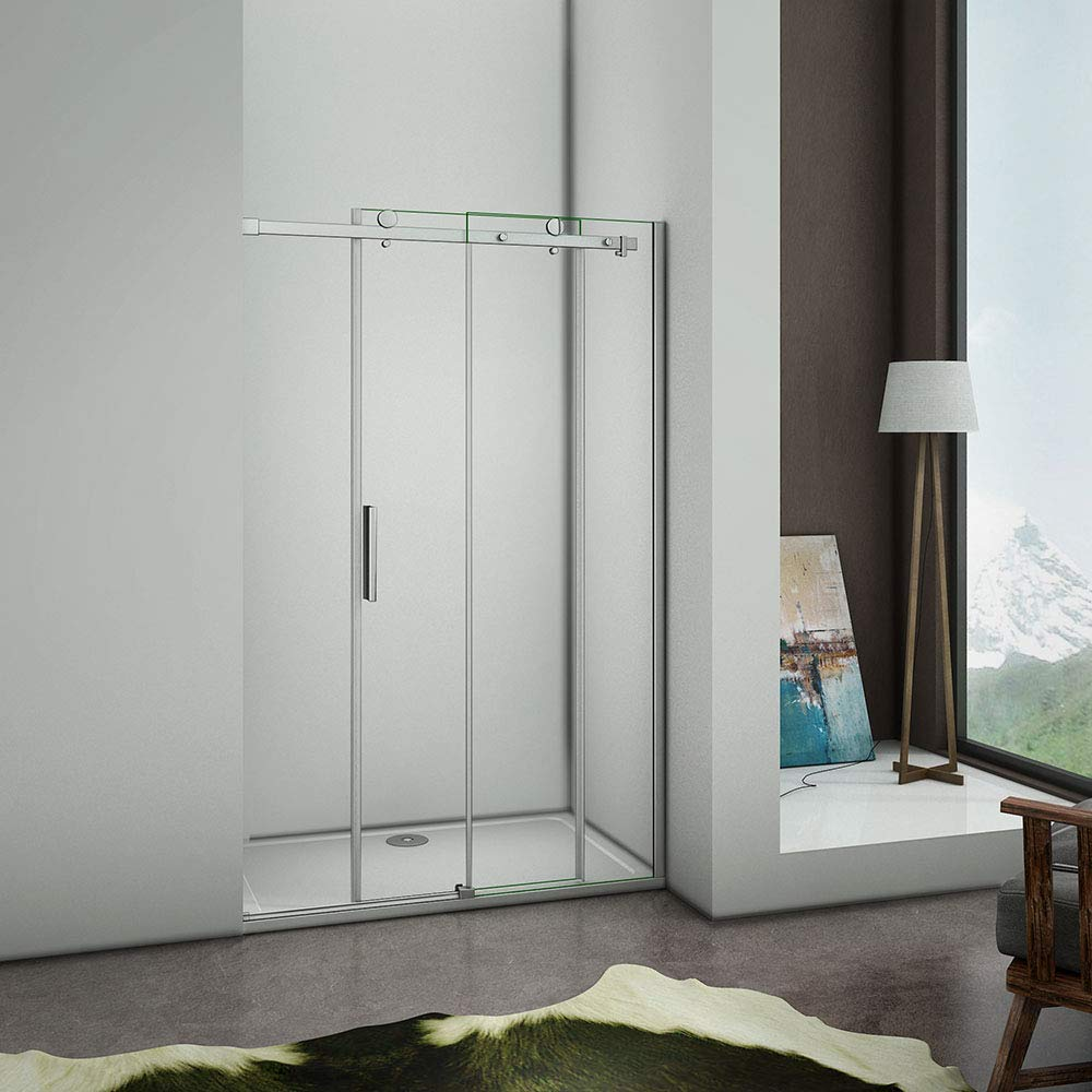 Aica - Puerta de ducha corredera (100 x 195 cm, mampara de ducha ...
