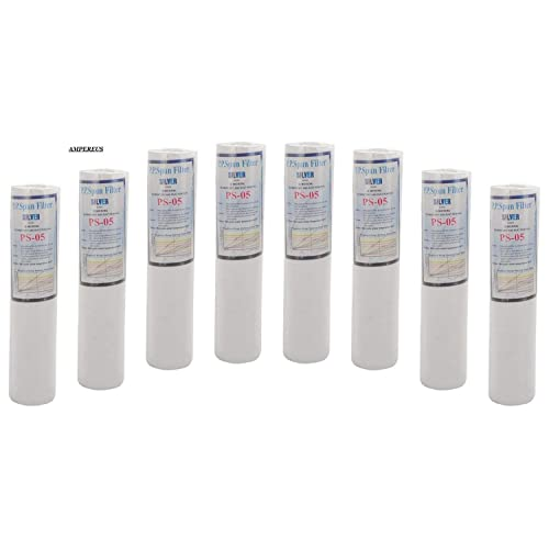 AMPEREUS 8 Pc Pack Pp 10 Spun Filter-White Spun Filter ,8 Pieces