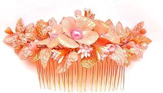 Peineta Sposa Ornamento fiori rosa fata per la decorazione dei capelli porcellana fredda