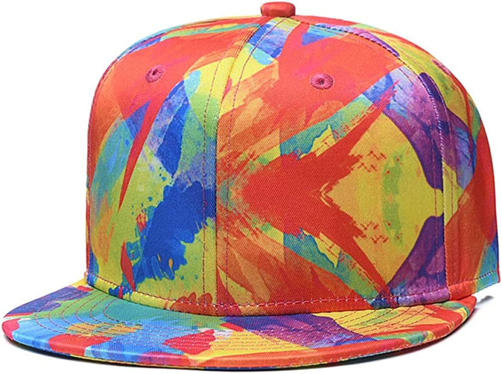 CLOTIME Snapback Hat for Men Women -Hip-hop Adjustable Baseball Cap Flat Bill Visor Trucker Cap Unisex