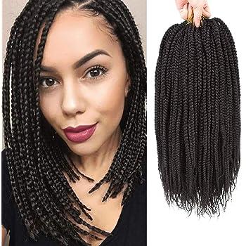 Amazon Com Vrhot 6packs 12 Box Braids Crochet Hair Pre Looped Crochet Braids 3s Soft Synthetic Hair Extensions Hairstyles Braiding Hair Style Dreadlocks For Black Women 12 Inch 12 Inch 1b Beauty