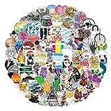 100 pegatinas pequeñas de dibujos animados frescas, impermeable, extraíble, maleta con ruedas, monopatín, portátil, taza de agua, pegatinas para nevera
