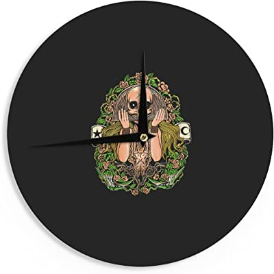 Kess InHouse BarmalisiRTB Hidden Faces Fantasy Illustration 12 Diameter
