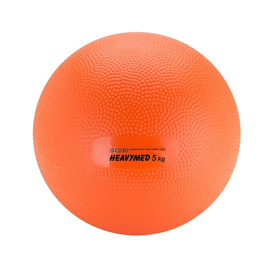 超える発見する高音Gymnic Heavymed 5?Medicine Ball ,オレンジ( 23?cm、5?kg / 11?lbs )
