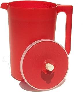 Tupperware 2 Quart Classic Push Button Pitcher Bold Red