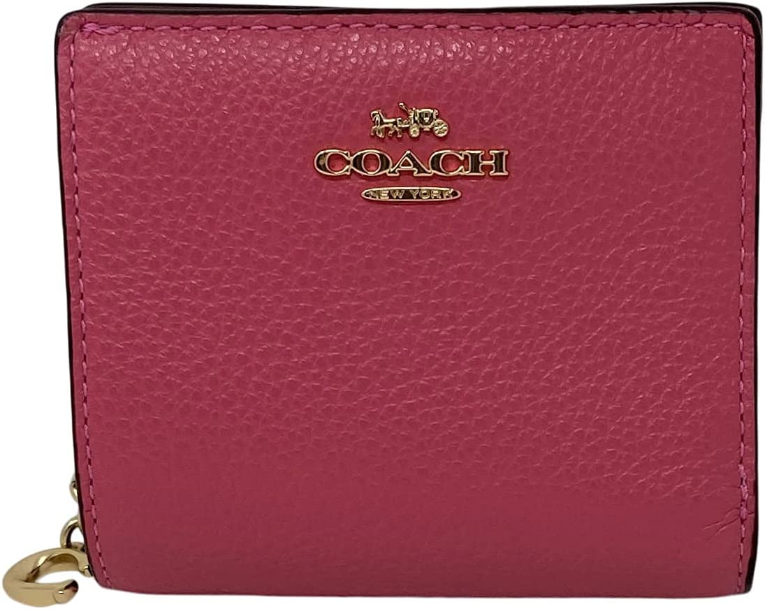 Coach Pebble Leather Snap Wallet Style No. C2862 Confetti Pink