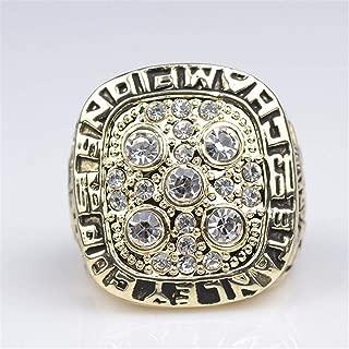 clarisk Men's Ice Hockey 1900 Edmonton Oilers Championship Ring Fashion Trend Men's Titanium Steel Rings