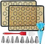 Kit de alfombrilla de silicona para hornear Macaron, alfombrilla de silicona reutilizable para hornear de alta temperatura para la seguridad alimentaria, adecuada para hacer macarons, pasteles, pizza