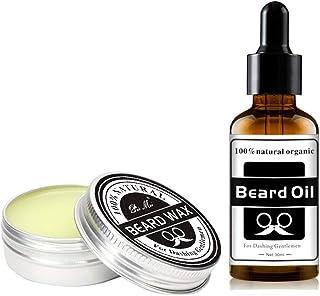 J TOHLO Kit de crema de barba y aceite de barba premium para hombres, Vegano, aceite de barba totalmente natural para hombres probado para curar la picazón de la barba, promover un crecimiento