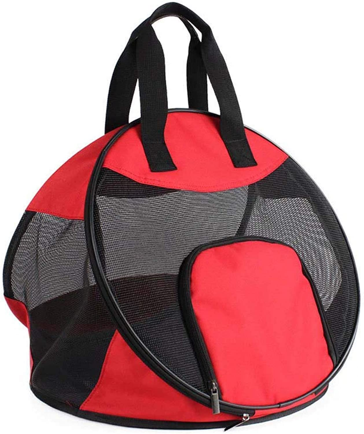 Pet Travel Carrier Foldable pet Bag, Breathable Out Tote Backpacks, DoubleSided Pouch Shoulder Carry Bag Pet Travel Carrier Ourtdoor Pet Bag (color   Red)