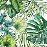 4 servilletas de papel para decoupage, 3 capas, 33 x 33 cm, hojas tropicales