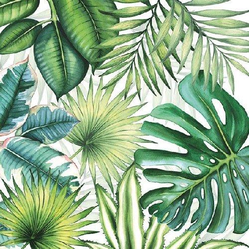 Ambiente Servietten Lunch / Party / Fest Ca. 33x33cm - Tropical Leaves - Tropische Blätter - Ideal Als Geschenk