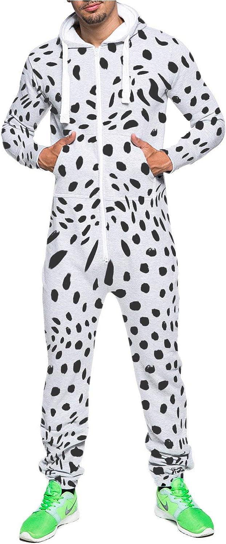 Combinaison /à fermeture /éclair pour homme Combinaison pyjama /à capuche