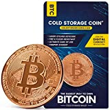 Bitcoin Cold Storage Wallet - 1 Ounce 999 Pure Copper Bitcoin Coin - Cryptocurrency Hardware Wallet for Securely Storing Crypto Offline - Un-hackable and Fire-Resistant Storage Device