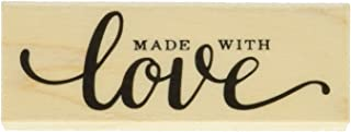 Hero Arts C6118 Woodblock Stamp, Made with Love Message