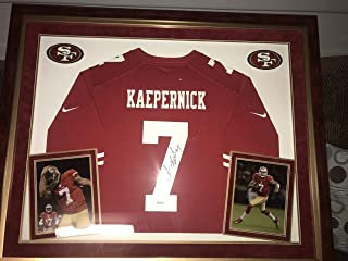 Colin Kaepernick Autographed Signed And Framed Red Nike 49ers Jersey Auto PSA/DNA D3L