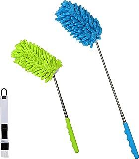 ZoomSky 3pcs Plumero de Microfibra,SEELOK Plumeros para el Polvo Extensible Atrapapolvo Muebles Productos de Limpieza de la Casa para Limpiar Esquina Techo Ventanas Persianas Tela de Araña