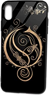 ThomasCGaona iPhone Xs Max Case,Tempered Glass 9H Mirror Glossy Top Smooth Feeling TPU Bumper Frame Protective Case for 6.5 iPhone Xs Max,Street Fashion iPhone-Case Designer Phone Cover-Opeth Logo