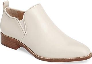 Pour La Victoire Felina Vanilla White Leather Almond Toe Sleek Man-Tailored Boot