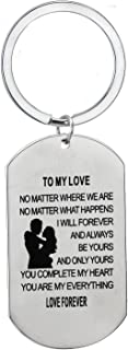 to My Love Dog Tag Military Pendant Gifts for Boyfriend Girlfriend Husband and Wife Necklace Chain Gifts