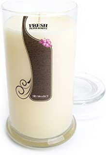 Fresh Peppermint Candle - Large White 16.5 Oz. Highly Scented Jar Candle - Made with Natural Oils - Christmas & Holiday Collection
