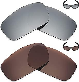 MRY 2Pares polarizadas Lentes de Repuesto para Oakley Crankshaft–Gafas de Sol, Color Rich Opción Colores