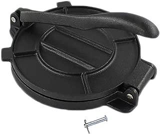 Bioexcel 8-Inch Cast Iron Tortilla Presser with Handle, Black