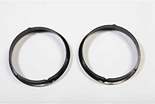 Rugged Ridge 12419.23 Black Headlight Bezel - Pair for 1997-2006 Jeep Wrangler TJ