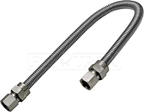 high quality Highcraft GUHD-TT38-36I Gas outlet sale Line Hose 1/2'' 2021 O.D. x 36'' Length with 3/8 in. FIP Fitting, Uncoated Stainless Steel Flexible Connector, 36 Inch outlet online sale