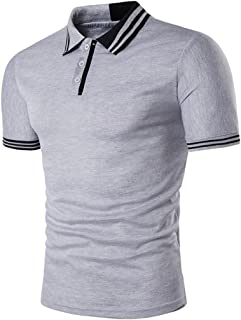Hot ! Auwer Mens Stylish Casual T-Shirts Slim Fit Short Sleeve Polo Shirt Tops