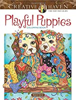 Creative Haven Playful Puppies Coloring Book (Creative Haven Coloring Books)