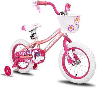 JOYSTAR Girls Bike with Training Wheels for 12 14 16 Inch Bike, Kickstand for 18 Inch Bike, Kids Cruiser Bike for 2-9 Years Old Girls