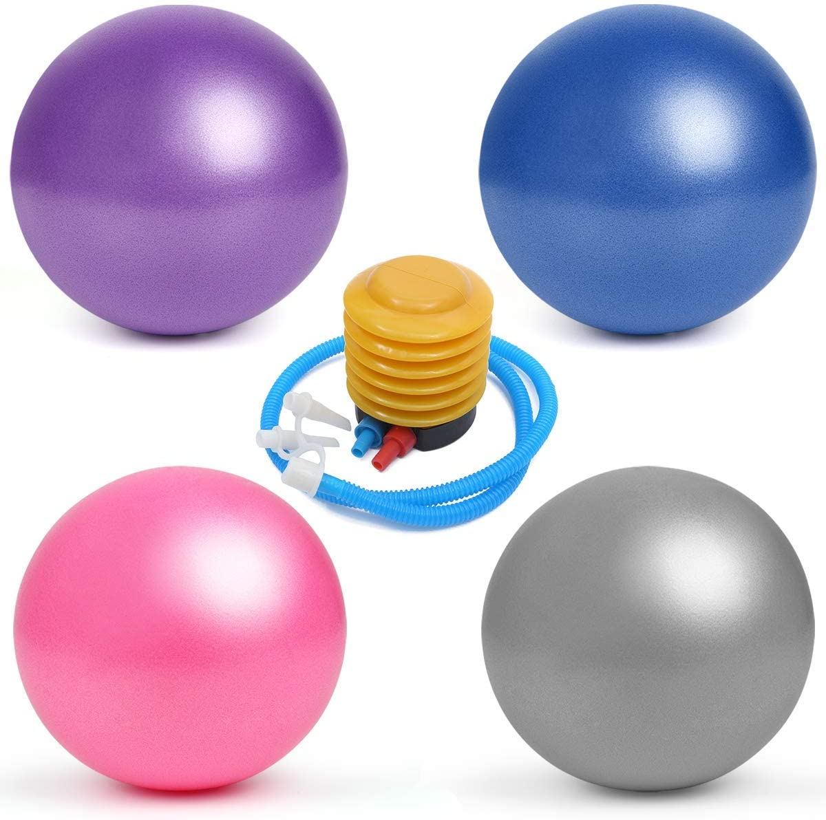 4Pcs Mini Pilates Balls with Ranking TOP12 Air 9-10 Pump Professional Inch Gr Don't miss the campaign