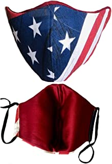 PACIFIC BULL USA Flag Face Mask. Made in USA. Comfortable Face-Fit. Breathable
