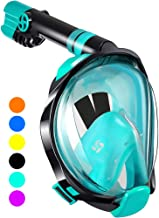 WSTOO Full Face Snorkel Mask - Designed for Surface Snorkeling,180 Degree Panoramic Anti-Fog Anti-Leak with Camera Mount F...