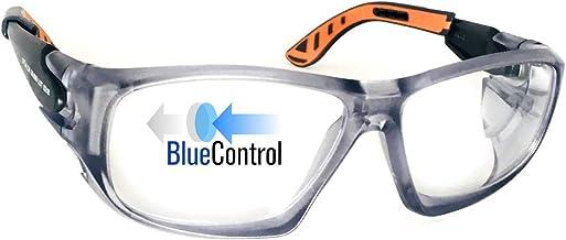 Óculos Blue Control Univet 5x9 Laranja Com Proteção Luz azul