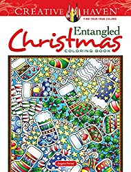 Entangled christmas coloring book zentangle inspired coloring