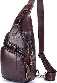 Travel Sling Bag,Shoulder Backpack,Casual Cross Body Bag Big Size Genuine Leather for 9.7 inch Ipad