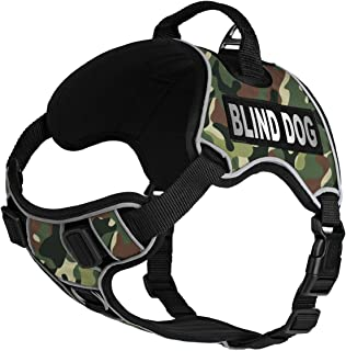 Dogline Quest No-Pull Dog Harness with Blind Dog Reflective Removable Patches Reflective Soft Comfortable Dog Vest with Qu...
