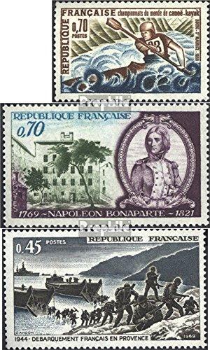 Frankrijk Mi.-Aantal.: 1678,1679,1680 (compleet.Kwestie.) 1969 Kajakken, Napoleon, II. Oorlog (Postzegels voor verzamelaars) militair