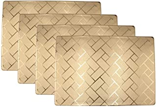 ELDETU Premium PVC Placemat Drink Coasters Placemat Waterproof Placemat Washable Table Mats Easy to Clean for Dining Room Kitchen Outdoor Restaurants Hotel Office Set of 4,B3
