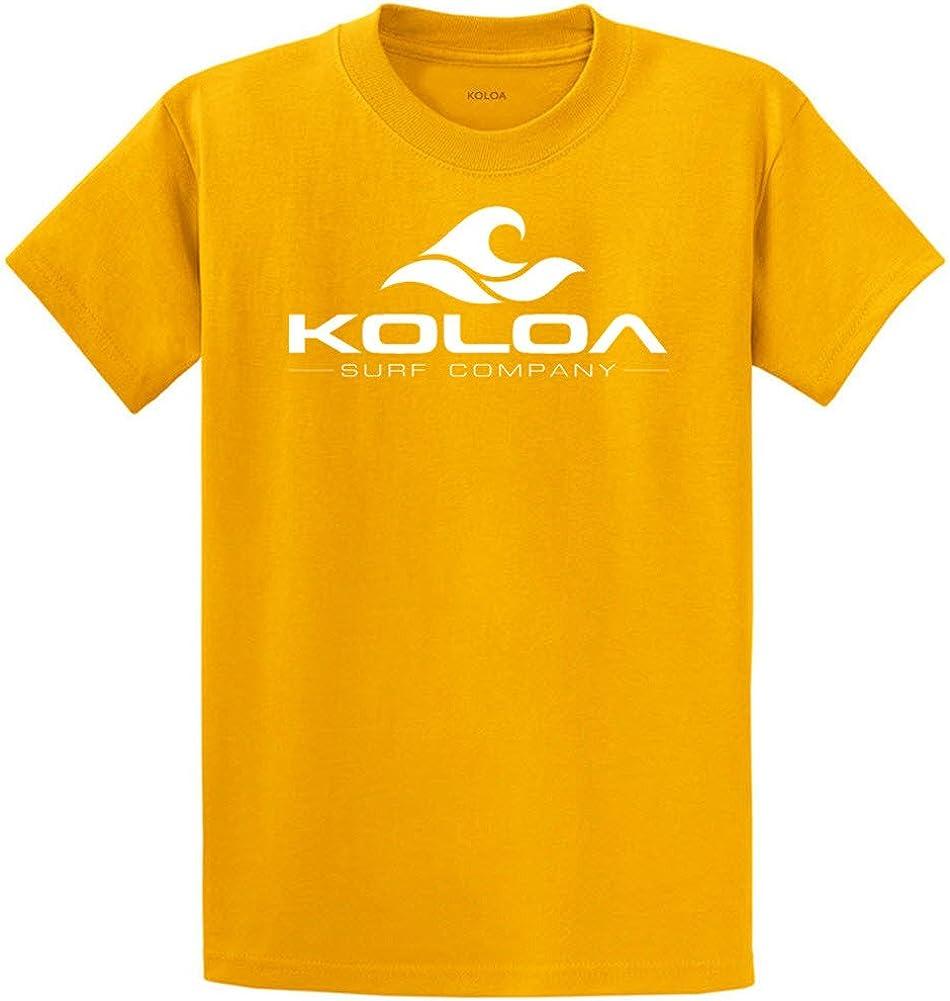 Koloa Surf Co. Wave Logo 50/50 Cotton Poly Blend T-Shirts 4X-Large Tall -4XLT Gold