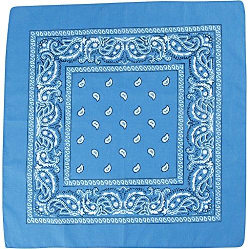 Bedrukte bandana-doek, afmetingen 55 x 55 cm, petrol, 1 stuks.