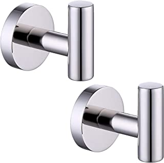 KES SUS 304 Stainless Steel Coat Hook Towel/Robe Clothes Hook for Bath Kitchen Garage Heavy Duty Wall Mounted Polished Fin...
