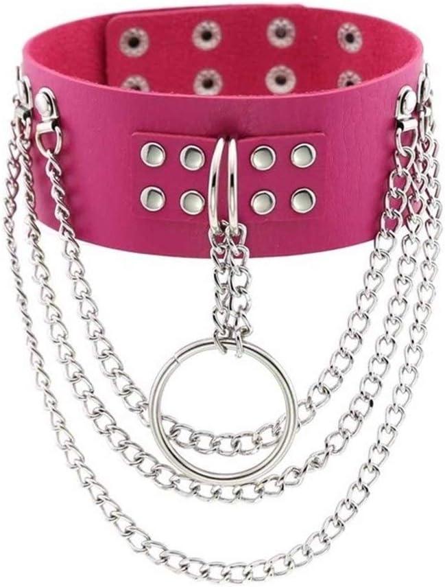 SHOYY Punk Chains Collar Big Free shipping on posting reviews Metal Jewellery Women Gothic Kansas City Mall Round