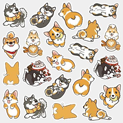 Cute Husky Corgi Pet Dog Decorative Washi Stickers Scrapbooking Stick Label Diary Stationery Album Stickers