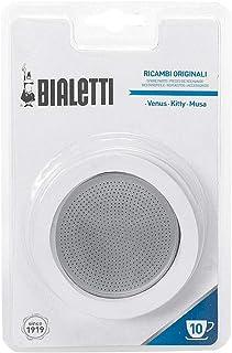 Bialetti聽-聽0800403聽Filter Coffee Machine聽-聽Stainless Steel聽-聽White, 19聽x 12.5聽x 0.2聽cm