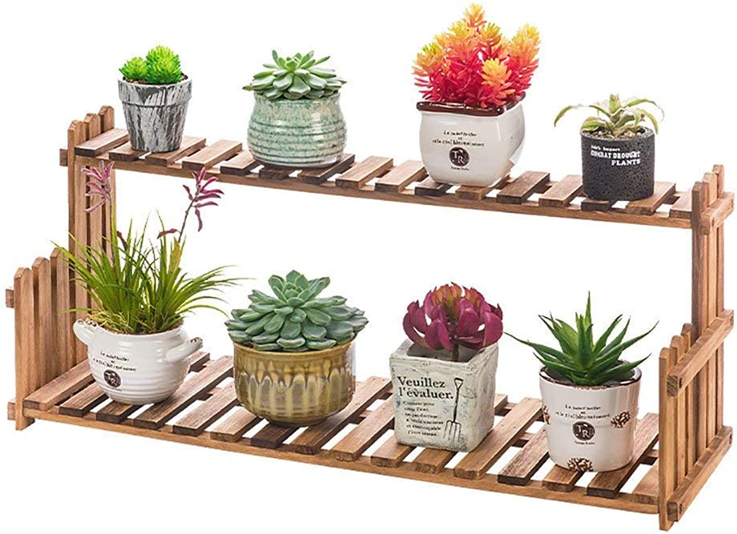 Gifts & Decor Plant Stand Shelf Indoor and Outdoor Decorative Shelf Living Room Plant Space Saving Flower Pot Holder Solid Wood Planter Ladder Flower Pot Stand Plant Display Shelf Herb Rack Backyard