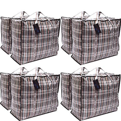Paquete de 8 bolsas de compras XX-Large STRONG Storage Laund